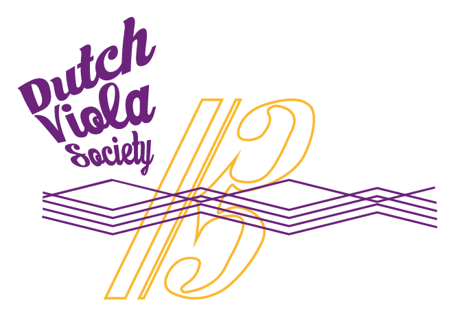 dutch viola society logo full white